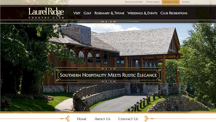 golf course web design