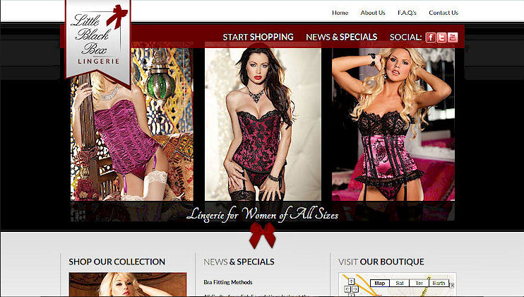 lingerie website designers