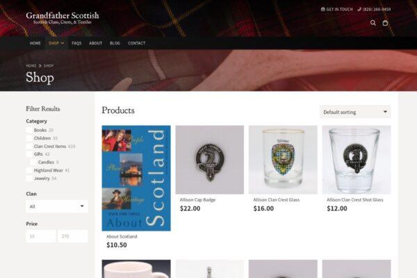 Grandfather Scottish_Shop