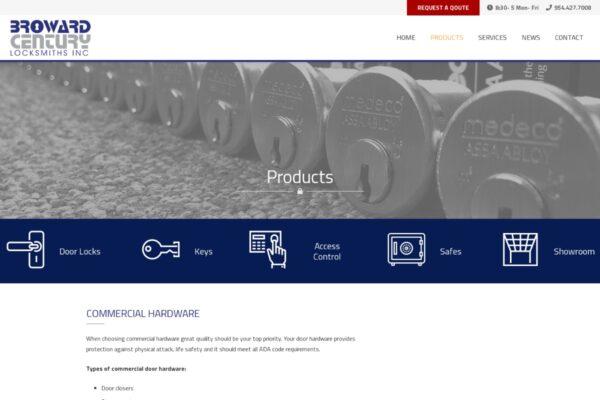 Broward Century Locksmiths Inc_Products